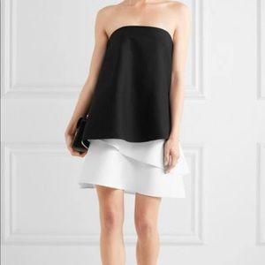 Halston Heritage Black & White Tiered Dress